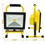 LED Flood light Battery Rechargeabel 50W