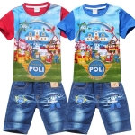 RB-003 ชุดเสื้อ + กางเกง Robocar Poli