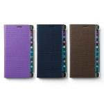 Zenus : Metallic Diary Synthetic Leather Cover Case For Galaxy Note Edge