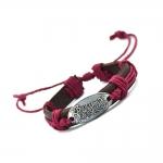 Bullet For My Valentine Red Bracelet สร้อยข้อมือหนังแต่งเชือกสีแดง