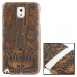 Woodcarving National Style Symmetry Pattern Mahogany Wood Material Case เคส Samsung Galaxy Note 3 (III) / N9000 ซัมซุง กาแล็คซี่ โน๊ต 3