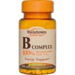 Sundown Naturals, B Complex, 100 Tablets