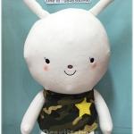 ตุ๊กตากระต่าย ชุดทหาร ซีรีย์เกาหลี Descendants of the sun ขนาดใหญ่ 20 นิ้ว