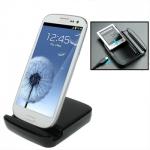 Dual Sync Charger Dock Samsung Galaxy S 3 III (Black)