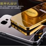 (025-054)เคสมือถือซัมซุง Case Samsung A5 (2016) เคสกรอบบัมเปอร์โลหะฝาหลังอะคริลิคเคลือบเงาแวว