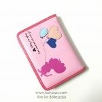 กระเป๋าสตางค์ใบกลาง มิกกี้เมาส์ สีชมพู