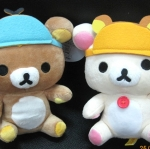ตุ๊กตาน้องหมี Rilakkuma และ Korilakkuma ใส่หมวกกันแดด (ราคาต่อคู่คะ)