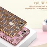 (490-004)เคสมือถือ Case Huawei P9 Plus เคสนิ่มขอบทองพื้นหลังลายคลาสสิคแฟชั่น
