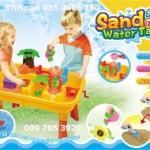 โต๊ะเล่นทรายของเด็ก มีฟันเฟืองหมุน ทำน้ำวน