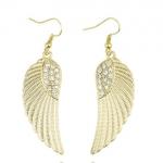 Gold Crystal Angel Wing Earing ต่างหูรูปปีกนางฟ้าสีทองแต่งคริสตัล