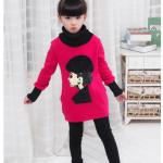 เสื้อกันหนาวสีโรส (ผ้ากำมะหยี่) ผ้าหนา สำหรับอายุ 5-9 ปี ค่ะ ไซส์ 100-110-120-130-140