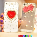 (351-002)เคสมือถือไอโฟน case iphone 5/5s เคสใสคริสตัลหัวใจ มิกกี้เมาส์