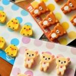 ตัวหนีบจิ๋ว ลาย Rilakkuma หมีน้ำตาล Korilakkuma หมีสีครีม และลายลูกเจี๊ยบ Made in Japan (1 แพ็ค มี 6 ชิ้น)