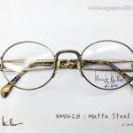กรอบแว่น Nicole Miller กรอบกลมรี สี Matte Steel (สีดำเมทัลลิท) รุ่น NM - 1428