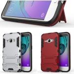 (002-163)เคสมือถือซัมซุง Case Samsung Galaxy J1(2016) เคสนิ่ม+พลาสติกเกราะสไตล์ไอรอนแมน