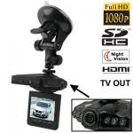 1080P Full HD จอขนาด 2.4 นิ้ว มองภาพตอนกลางคืนได้ Zoom 4x กล้องติดรถยนต์