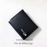 กระเป๋าสตางค์ใบสั้น Bovie's สีดำ ขนาด 2 พับ
