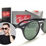 แว่นกันแดด RB 2180 High Street Round 601/71 51-20 3N <ดำ>