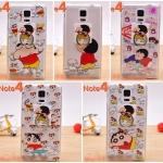(151-301)เคสมือถือซัมซุงโน๊ต Case Note4 เคสนิ่มใสลายชินจังพร้อมแหวนโลหะตั้งโทรศัพท์
