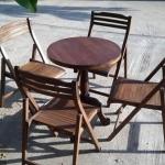 ชุดโต๊ะเก้าอี้ไม้สัก รหัส16557woc