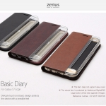 Zenus : Basic Diary, Synthetic Leather Case For Galaxy S7 Edge