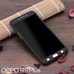 (พร้อมส่ง)เคสมือถือ Case OPPO R9 Plus เคสพลาสติกแบบประกบหน้าจอติดฟิล์มกระจกสไตล์กันกระแทก