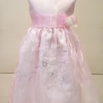 ชุดราตรีเด็กหญิงใส่ออกงานสีชมพู สำหรับเด็กโต4-6ปี