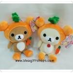 ตุ๊กตาน้องหมี Rilakkuma และ Korilakkuma คู่แครอท (ราคาต่อคู่ค่ะ)