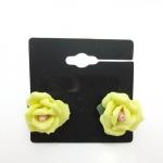 FOREVER21 Yellow Rose Earing ต่างหูดินปั้นรูปดอกกุหลาบสีเหลืองแสนสวย
