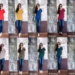 Colorful basic Tshirt มี 14 สีค่ะ (ไซส์ใหญ่ขึ้นค่ะ)