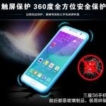 (003-007)เคสมือถือซัมซุง Case Samsung S6 เคสนิ่มขอบสี+ฝาหน้าเคสกระจกนิรภัยกันรอยกันกระแทก