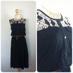 Lady002 Dress ยาวสีดำ