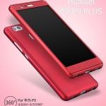 (พร้อมส่ง)เคสมือถือ Case Huawei P9 Plus เคสพลาสติกแบบประกบหน้าจอติดฟิล์มกระจกสไตล์กันกระแทก