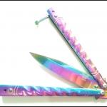 มีดบาลีซอง เรนโบว์ธันเดอร์ Rainbow Thunder Balisong Knife