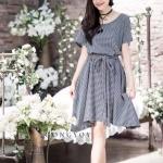Yoko Dress Short Sleeves เดรสทรงปล่อย สไตล์ญี่ปุ่น