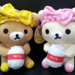 ตุ๊กตาน้องหมี Rilakkuma และ Korilakkuma ถือนม (ราคาต่อคู่ค่ะ)