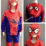 Spiderman (งานลิขสิทธิ์) ชุดแฟนซีเด็กสไปเดอร์แมน มีไฟ 2 ชิ้น เสื้อฮู้ด & กางเกง ออกแบบมาเป็นเสื้อฮู้ด พร้อมหน้ากากในตัว สบายใจได้ว่าหน้ากากไม่หายแน่นอนค่ะ ให้คุณหนูๆ ได้ใส่ตามจิตนาการ ผ้ามัน Polyester ใส่สบายค่ะ หรือจะใส่เป็นชุดนอนก็ได้ค่ะ size S, M, L, X
