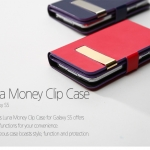 ZENUS : Luna Money Clip Diary Synthetic Leather Cover Case for Samsung Galaxy S5, SV, G900