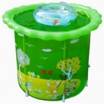 สระน้ำทรงสูงสำหรับเด็ก สูงถึง 80cm+ ห่วงคอ+ปั้มลม