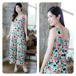 Fun Flowers Polkadots Loose Jumpsuits