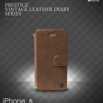 ZENUS Prestige Vintage Leather Diary Series for Apple iPhone 5