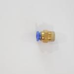 """ข้อต่อทองเหลืองเกลียวนอก 2 หุน ( 1/4"""" ) x 12 mm"""