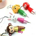พวงกุญแจปากกาไม้รูปสัตว์ (ซื้อ 12 ชิ้น ราคาส่ง 20 บาท/ชิ้น)