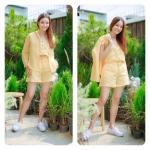 Linen Set สีเหลือง