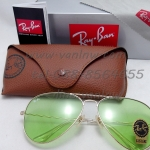 RB 3026 Aviator Large Metal 001/14 62-14 2N <สีเขียวอ่อน>