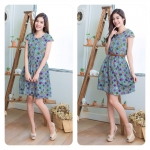 Scotty-Polka dots Cute Dress สีเขียว