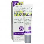 Andalou Naturals, Night Repair Cream, Resveratrol Q10, .4 fl oz (12 ml)