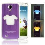 Case เคส รูปเสื้อ มีไฟ Samsung Galaxy S 4 IV (i9500) สีม่วง