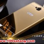 (388-051)เคสมือถือ Case Huawei Honor 3C เคสกรอบโลหะพื้นหลังอะคริลิคเคลือบเงาทองคำ 24K