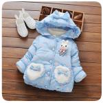 เสื้อกันหนาวสีฟ้า ลายกระต่าย สำหรับอายุ 1-4 ปี น่ารักมากค่ะ